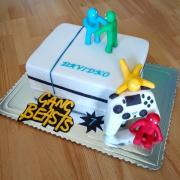 Torta Playstation s počítačovou hrou