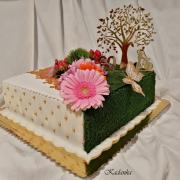 Torta Machovo zlatá pre oslávenca , ktorý je   milovníkom  prírody a bicyklovania ...