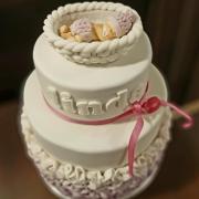 Torta Krstinová pre dievčatko