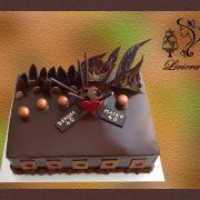 Torta narodeninová, čokoládová torta