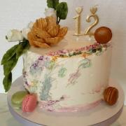 Torta Narodeninová pre vnučku Natálku (v kréme)