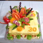 Torta narodeninová torta slaná