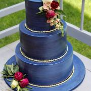 Torta Svadobná torta vo farbe navy blue