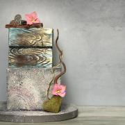 Torta Efekt kameňa a dreva