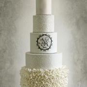Torta Svadobná torta elegantná s volánikmi