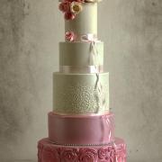 Torta Svadobná torta romantická v ružovom