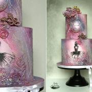 Torta Romantická narodeninová torta s baletkou