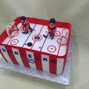 Torta hokej s hráčmi