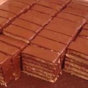 Torta Dobošové rezy