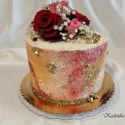 Torta Batikovaná krémová k prvému výročiu svadby...