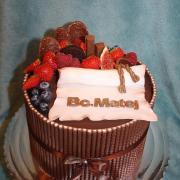 Torta Promočná Birmovná čokoládová s ovocím