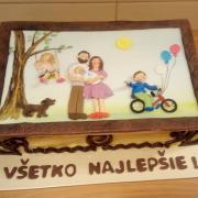 """Torta so sladkým """"obrazom"""" k výročiu"""