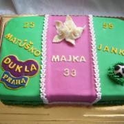 Torta narodeninová pre troch oslávencov