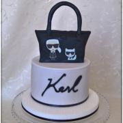 "Torta Kabelka k 18tinám ""Karl Lagerfeld"""