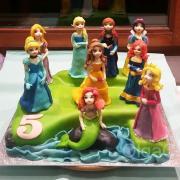 Torta Disney princezny