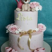 Torta Krstinová s macíkom a botičkami