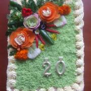 Torta narodeninová slaná pre vnučku k ,,20,,