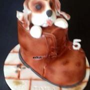 Torta psík v topánke vnučke