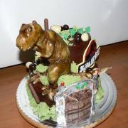 Torta Čokoládová torta s Dinosaurom