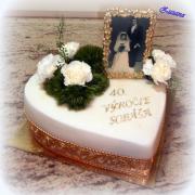 Torta 40.výročie sobáša