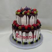 Torta poschodová s ovocím