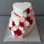 Torta Svadobná s ružami
