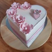 Torta Svadobné srdce