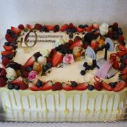 Torta Drip torta s ovocím