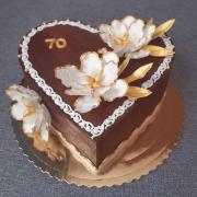 Torta Narodeninové srdce s kvetmi