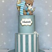 Torta Tortička s macíkom na krstiny