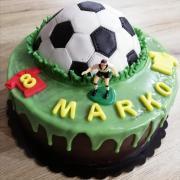 Torta Futbalová drip torta