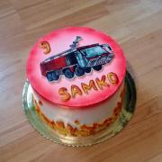 Torta Hasičské auto