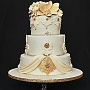 Torta Svadobná krémovo zlatá