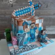 Torta Minecraft torta