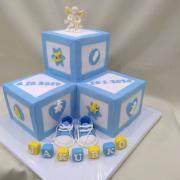 Torta anjelik,kocky a papučky na krst