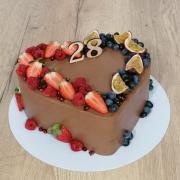 Torta Čokoládovo - ovocné ❤️