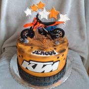 Torta Motocykel KTM - setík
