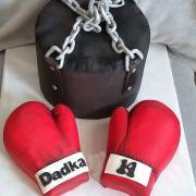 Torta Boxérsky mech s rukavicami