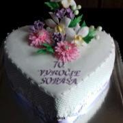 Torta 70. výročie sobáša