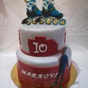 Torta Na želanie s kolieskovymi korčulami