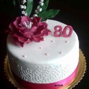 Torta 80. narodeniny