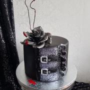 Torta gothic rock - malá svadobná