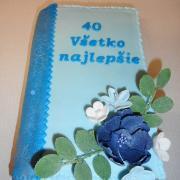 Torta kniha k 40- tke  na želanie