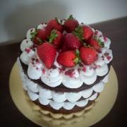 Torta Nahá s jahodami