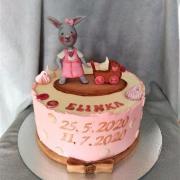 Torta Krstinová krémová so zajačikom