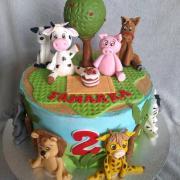 Torta So zvieratkami bez poťahu