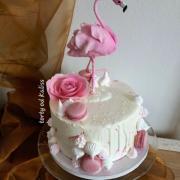 Torta Narodeninova s plameniakom