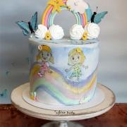 Torta Slnko+dážď=dúha:)