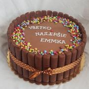 Torta Čokoládová s lentilkami...