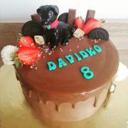 Torta Drip torta so psíkom